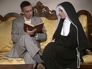 anal Shy Nun gets her ass fucked.. blowjob