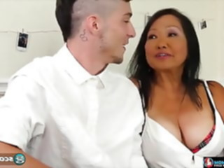 blowjob Asian teacher fucks his.. facial